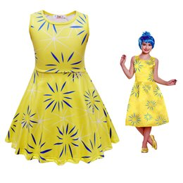 Enfants Cosplay Costume Inside Out Dégoût Joy Costume Party Girl Dress T200709