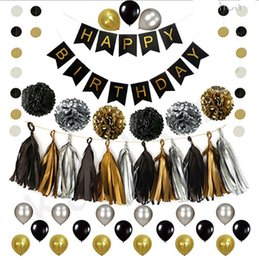banner gift Australia - Happy Birthday Letter Banner Balloon Package Birthday Party Decoration Aluminum Plastic Metal Balloon Wedding Family Party Gift