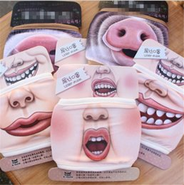 pig face masks UK - Mask Mouth Face Dustproof 3D Cotton Cartoon Cute Pig Mask Personality Washable For Women Men Fa RRC1
