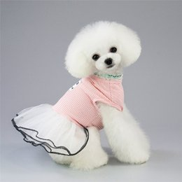 drop ship apparel UK - Dog Apparel Summer Dog Dresses Pet Dog Puppy Clothes Dresses Spring Teddy Chihuahua Breathable skirts drop ship