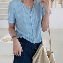 short sleeve knitted batwing cardigan Canada - 2020 Summer Top Coat hollow-out texture Ice Silk comfortable knitted cardigan women's all-match short sleeve top