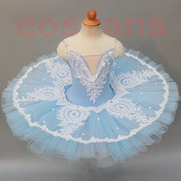 ballerina tutus for girls Canada - sky blue ballet tutu women ballerina party professional ballet tutu child kids girls mujer dance costumes for gir