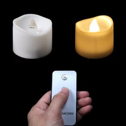 led candle votive UK - Pack of 12 or 24 Battery Votive Candles with Remote LED Candles 3.7*3.6cm Small Tea Lights Christmas Home Party Electronic Candles