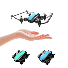 2.4G mini drone Flight 8 minutes Pocket aircraft air pressure fixed height Folding four-axis 3D roll fpv drones on Sale