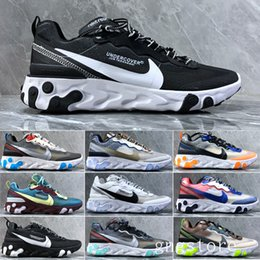 canvas sailing shoes Australia - React Element 87 Undercover Men Running Shoes For Women Designers Sneakers Sports Mens Trainer Shoes Sail Light Bone Royal Tint EER2B