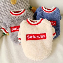 chihuahua sweaters wholesale UK - Small Medium Dogs Use Soft Pet Clothes Dog Jacket Chihuahua Clothes Winter Pet Dog Coat Clothing XS-XL
