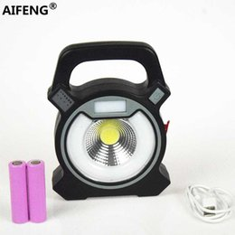 rechargeable floodlights Canada - AIFENG LED Portable Floodlight Lantern Outdoor Waterproof Emergency Spotlight Lamp portable light for Camping Hiking Tent Light