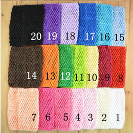 Wholesale 6inch Baby Girl Crochet Tutu Tube Tops Chest Wrap Wide Crochet headbands Candy color clothes