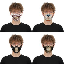 game face skull mask Australia - Reusable American Flag Ghost Head Around The Printing Mask Game Dust Mask Alloween Skull Cosplay Masks Face Mask Cotton Er#810