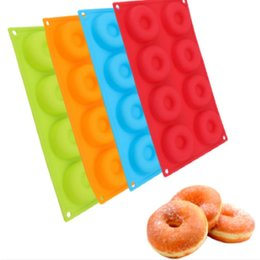 mirror sticks Australia - 8-Cavity Silicone Donut Mold Chocolate Biscuit Cake Mold Non-Stick Mold DIY Cake Mould Tray