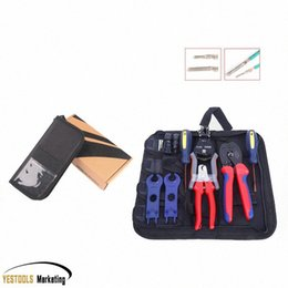 solar connectors cable UK - Crimper Solar Crimping Tool Kits for 2.5-6.0mm2,MC3 MC4 Connectors,Cable Cutter,PV Crimp Tools Solar System Connect xmEB#
