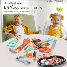 TW2005069 tool set toys Tool storage tray set 17PCS DIY assembling tools two style assorted role play kids play tool set toys on Sale