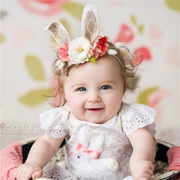 babies hair garland NZ - Baby Head Ornaments Photograph Band Hoop Camellia Garland Seaside Holiday Artificial Decorative Flowers Hair Belt Party Favor 8 5ys bb