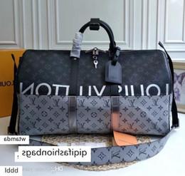 2020 Marka tr ve kadınlar büyük kapasiteli bagaj çantası bagaj gerçek su geçirmez çanta Duffel Çanta M436146