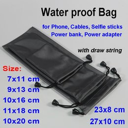 Wholesale bank adapters for sale - Group buy Waterproof Bag for iPhone Huawei Samsung Selfie Handheld Stick power bank adapter Storage Case x8cm x10 x20 bag