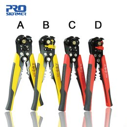 adjustable pliers UK - PROSTORMER 3 in 1 Wire Stripper Self Adjustable Automatic Cable Wire Stripper Crimping Plier Crimper Terminal Cutter Hand Tool