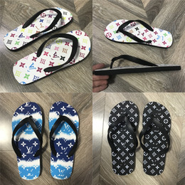 korean rubber shoes trends UK - Summer 2020 Korean Fashion Trend Flip-Flops With Flat Sole, Slippery And Simple Beach Shoes Striped Slippers With Original Box#760