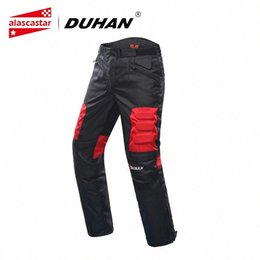 padded trousers UK - DUHAN Motorcycle Pants Riding Motocross Moto Pants Trousers Racing Pantalon Windproof Motobike With Knee Pads Guards DK-02 L34j#
