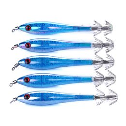 fishing lures lights NZ - Luckinvoke Five Pcs 9.5cm 6g Fishing Lures Artifical Bait Light Wobblers Floating Fishing Tackle Muliti Colors With Hooks