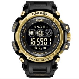 water smart watch NZ - Smael smart watch with LED display for men digital watch men's large dial sports watch windproof Smartwatch for IOS Android phone