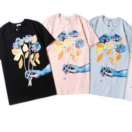 Wholesale pink t shirts for men for sale – custom 2020 Mens Designer T Shirt Summer Breathable Loose T Shirts For Men And Women Couple Designer Hip Hop Streetwear Tops Fashion short sleeve