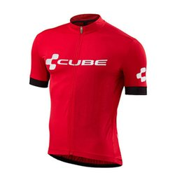orange blue cube cycling jersey UK - New CUBE Team 2020 summer cycling jersey men breathable short sleeve bike shirt MTB Bicycle tops racing clothing bicycle uniform Y20071303