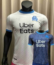 compression short soccer NZ - Player version 20 21 Marseille maillots de foot soccer jersey home away 2020 2021 football Marseille Tight compression Player shirt