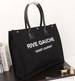 Ingrosso borsa della donna di modo delle signore di modo classico sacchetto rive gauche spesa Pinke 08