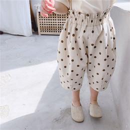 Wholesale print wide pants elastic waist for sale – dress INS Baby Kids Boys Girl Pants Summer Polka Dot Shorts Children s Quality Breathable Kids Hot Pant Elastic Waist Styles Shorts