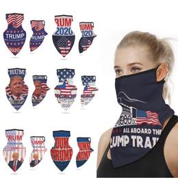 Multifuctional extérieur Masques de protection Visage Président Trump Election Ice Silk Sun Masque de protection anti-poussière boucle d'oreille Triangle écharpe Turban en Solde