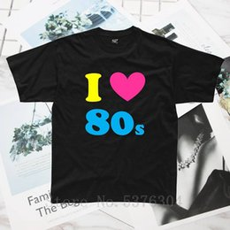 men s fancy dress Canada - I LOVE 80s Mens T-Shirt S-5XL Outfit Fancy Dress custom Neon 80's Free Shipping Men T Shirt fashion Tee