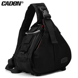 waterproof camera bag case Canada - Caden DSLR Camera Sling Bag Digital Photo bag shoulder waterproof backpack padded insert case bag with Rain Cover for Canon Sony T191025