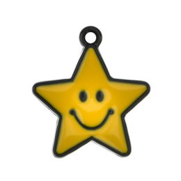 accessories for bag making Australia - Charms Pendants of Cute Drop Oil Alloy Star Bike Charms for Findings DIY Jewelry Bag Making Accessory
