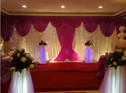 backdrops swags Canada - Wedding 3mx6m backdrop wedding stage backdrop decoration stage background with Beatiful Swag