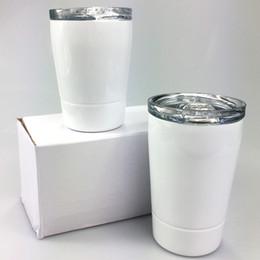 DIY Sublimation 8oz Tumblers Tumblers de aço inoxidável Crianças Cups Viagens Crianças Garrafa de Água Veículo Caneca Caneca De Café com tampas em Promoção