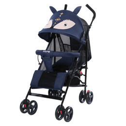 Wholesale baby sits resale online - portable foldable Baby stroller baby carriage can lie down to sit shock absorber children s trolley ultra portable
