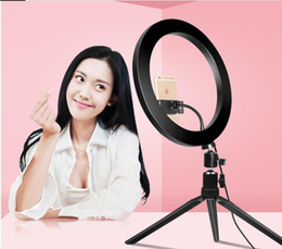 Wholesale 26cm Phone LED Light Ring Selfie Ring lamp Novelty novedades 2019 Photography Video Live Studio Fill light Photo light For Smartphone