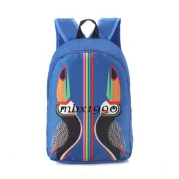 new backpacks Australia - New Mens Fashion Stylist Print Backpack Women Outdoor Travel Backpack Student High Quality Schoolbag Men Women Computer Bag Blue