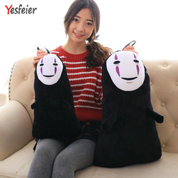 ghibli toys UK - 1 Pcs 40 60CM Studio Ghibli Spirited Away Kaonashi No Face Faceless Cosplay Plush Toys MX200716