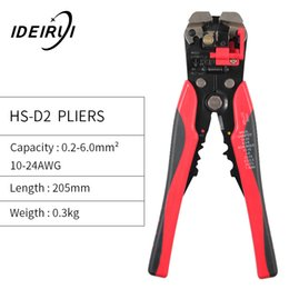 automatic cable Canada - 3 in 1 Automatic Cable Wire Stripper Cutter Crimper Multifunctional Terminal Crimping Stripping Plier Tools Cable Wire Stripper Y200321