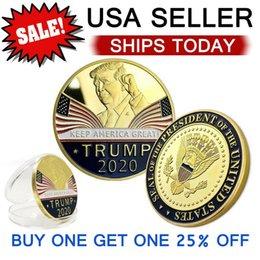 Keep America Great 2020 Donald Trump pièce commémorative président américain Pièces d'or Badge d'argent Collection Metal Craft républicain en Solde