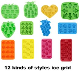 pudding silicone mold UK - Tray Freeze Mould Jelly Pudding Chocolate Silicone Colorful Ball Ice Cube Mold C19041301