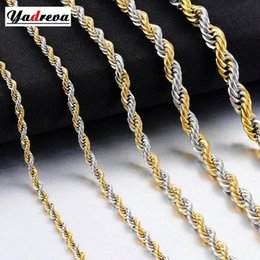 rope cans UK - New Hip Hop Stainless Steel Rope Chain Fashion Men And Women Jewelry Can Wholesale Jewelry gNWO#
