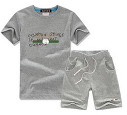 HOT boy and girls t-shirt summer clothes boys clothing set tracksuit 2020 short sleeve suit two piece children outfits