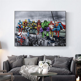 marvel canvas prints NZ - Canvas Painting Wall Posters and Prints Marvel Avengers HD Wall Art Pictures For Living Room Decoration Dining Restaurant Hotel Home Decor