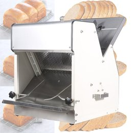 Im Jahr 2020 ist die neue kommerzielle Edelstahl elektrische Brotschneidemaschine Toastbrot Sandwich Slicer Brotschneide Dicke 31 Stück / Zeit im Angebot