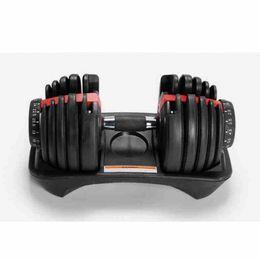 Regulowany Dumbbell 2.5-24 kg treningi fitness Dumbbells Wagi Budować mięśnie sportowe sprzęt fitness sprzęt ZZA2538 Wysyłka morska
