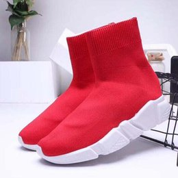gold flat knee boots NZ - New Casual shoes Sneakers Speed Runner Fashion Shoes Sock Triple Black Boots Red Flat Trainer Men Women Casual Shoes Sport M2U