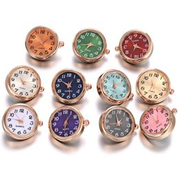 18mm watch bracelet Australia - 1PCS Rose Gold Silver color Glass Watch Snap Button Interchangeable Jewelry Replaceable 18mm Snap Buttons for Snaps Bracelet