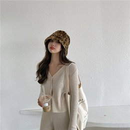 short sleeve knitted batwing cardigan Canada - 5 colors thin Knitted Sweater Coat Long Sleeve Casual V-Neck solid color autumn Cardigans womens tops (R99932) Y200720